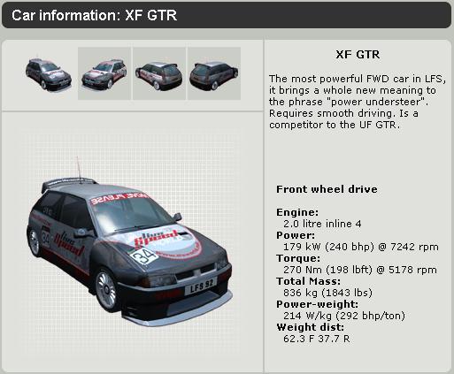 LFS XF GTR