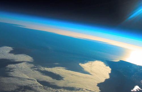 slika iz svemira na balonu