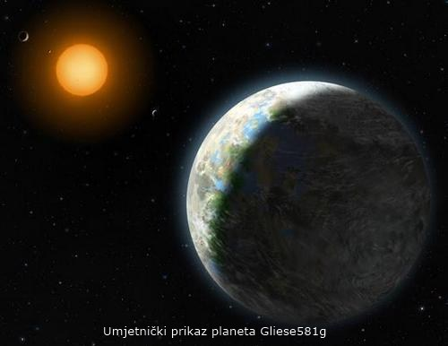 ekstrasloarni planet Gliese581g