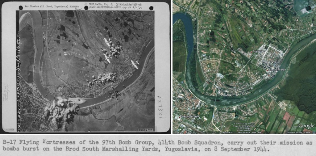 bombardiranje slavonskog broda 1944