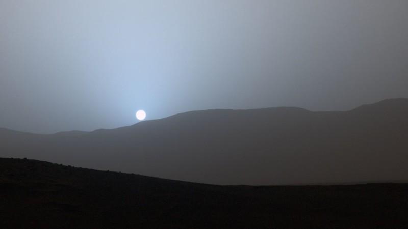 Zalazak sunca na Marsu (snimio Curiosity)
